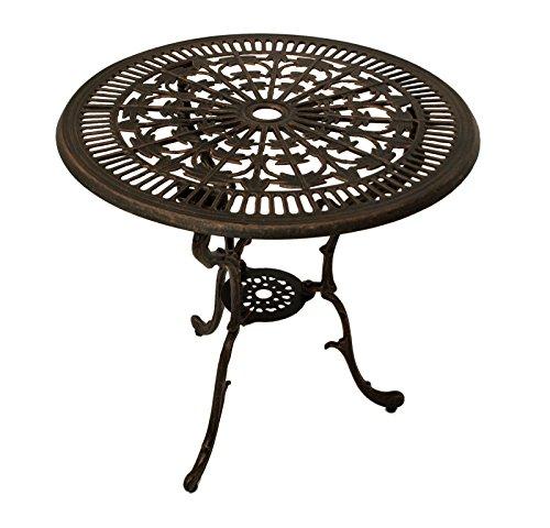 gartentisch lugano in jugendstil optik aus aluminiumguss bronze antik. Black Bedroom Furniture Sets. Home Design Ideas