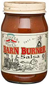 Texas Pepper Works Barn Burner Salsa Call 911 Screaming Hot 16-ounce Jars Pack Of 3 by Texas Pepper Works