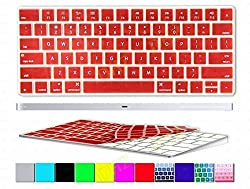 Apple Magic Keyboard Cover 2-Pack (Buy One will Free Gift 1pcs DHZ Customized Cover) Chocolate Brown Coffee Ultra Thin Silicone Skin Protective Film for Magic Keyboard MLA22B/A US Keyboard Layout