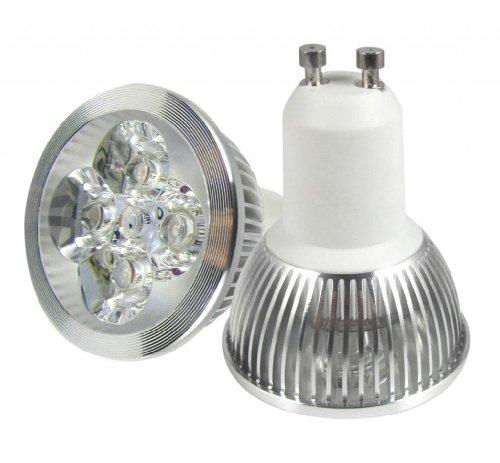 Dele Technology 4W Gu10 Base Led Lamp Warm White Spot Light 100-240V Silver Case