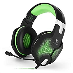 ECHTPower(TM) Professional Gaming Headset 3.5mm PC Colorful Breathing LED Light Game Bass Headphones USB Over-ear Stereo Noise Isolation Hedset headphone with Mic Micophone