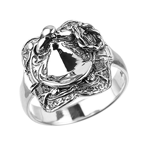 Sterling Silver Horse Saddle Men's Ring(Size 12) (Saddle Ring compare prices)