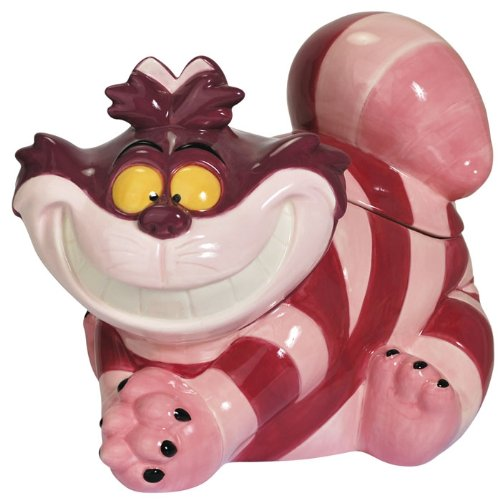 Alice in Wonderland's Cheshire Cat Cookie Jar Gift for Disney Lovers