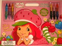 Ultimate Artist Pad Strawberry Shortcake Stickers 6 Double Sided Crayons 12 Colors