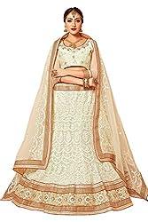 Manvaa Women Net Lehenga Choli(White_ASMMTZ7004A_Free Size)