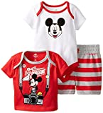Disney Baby Baby-Boys Newborn Mickey Mouse 3 Piece Set