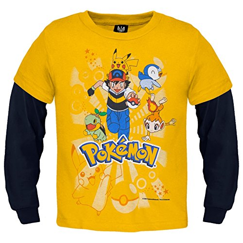 Pokemon - Group Running Youth 2Fer Long Sleeve - Youth X-Large front-109215