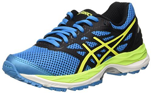 Asics Gel-Cumulus 18 Gs, Scarpe Running Unisex - Bambini, Blu (Island Blue/Safety Yellow/Black), 38 EU