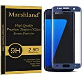 Marshland® Samsung Galaxy S7 Edge Tempered Glass Full Curve Smooth & Softer Tempered Glass Screen Protector 2.5D Round Edge, 0.33mm Thickness, 9H Hardness, Anti Glare, Anti Explosion, Bubble-free, Oleo Phobic Coating Anti Scratch High Definition T