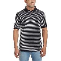 Nike Men's Cotton Polo (666003728787_727690-010_Large_Black and White)