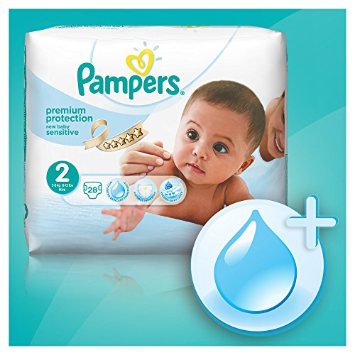 pampers new baby sensitive nappies size 1 newborn value pack 39 nappies cheap baby stuff. Black Bedroom Furniture Sets. Home Design Ideas