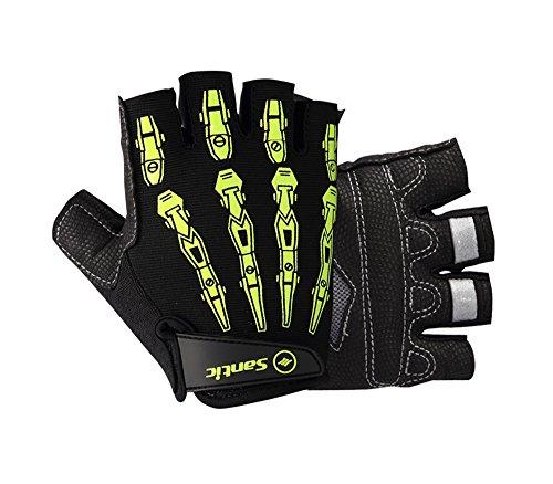 Guanti per ciclismo, guanti da ciclismo, guanti sportivi - Da uomo - colori grigio e nero - M