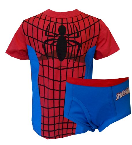 Marvel Comics Spiderman Tee Shirt And Brief Set For Boys (6) front-1035928