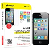 Amzer 96704 Amzer® KristalTM Tempered Glass Screen Protector For IPhone 4S, IPhone 4