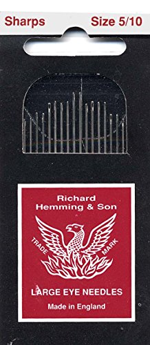 Colonial Needle 20 Count Richard Hemming Sharps Assorted Needles, Size 5/10 (Richard Sharps compare prices)