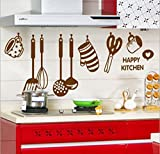StickersKart Wall Stickers Stylish Kitchen Art (Brown, 105cm x 40cm)-6017