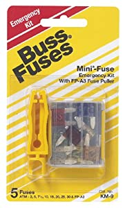Bussmann KM-9 Mini Blade Fuse Assortment with fuse puller