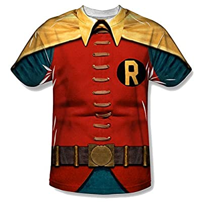 Batman Classic TV Robin Costume All Over Youth Front T-Shirt