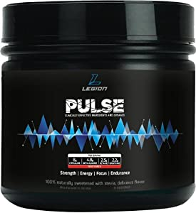 LEGION Pulse Pre-Workout: Smooth Energy Rush. Powerful Performance Boost. Superhuman Endurance. 1.07 lbs, Fruit Punch.