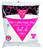 Hario 02 100 Count Coffee Paper Filter, White