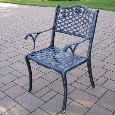 Oakland Living Tea Rose Cast Aluminum Dining Chair, Verdi Grey