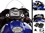 Centre Fork Yoke Stem 17.5-20.5mm Motorcycle Mount with Waterproof GPS Case for Garmin Nuvi up to 5
