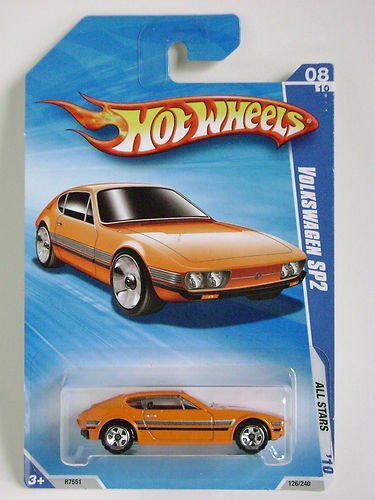 Hot Wheels 2010 All Stars Volkswagen SP2 Orange #126/240