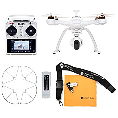Blade Chroma Flight-Ready Drone with Stabilized C-GO3 4K Camera, ST-10+ Transmitter, Prop Guard, and Extra 6300mAh 3S 11.1V LiPo Battery
