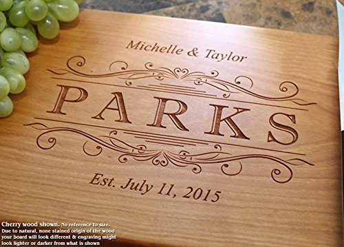 Classic Swirl Personalized Engraved Cutting Board- Wedding Gift, Anniversary Gifts, Housewarming Gift,Birthday Gift, Corporate Gift, Award, Promotion. #002