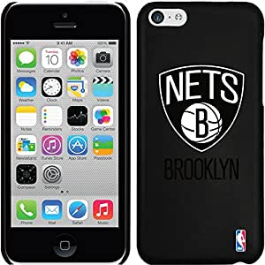 Coveroo Brooklyn Nets Primary Logo Design Phone Case for iPhone 5C - Retail Packaging - Black