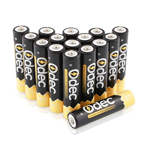 Odec NiMH  AAA Rechargeable Batteries, 1000mAh, 16 Pack (Aaa 1000 Mah Rechargeable compare prices)