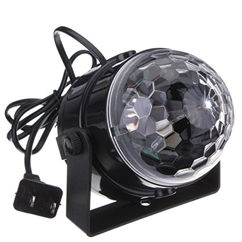 KINGSO dancing lights Color Changing 5W RGB Sound Actived Crystal Magic Mini Rotating Ball Led Stage Lights For KTV Xmas Party Wedding Show Club Pub Disco DJ