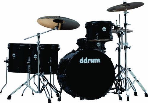 Ddrum Journeyman Jmr522 Mb 5-Piece Drum Set With Hardware Midnight Black