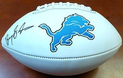 Barry Sanders Autographed Detroit Lions Football Helmet - PSA/DNA Authentic Signed NFL Footballs
