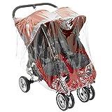 1STOPBABYSTORE Para gemelos Protector de lluvia para bebé Trotador Mini Y GT Doble Por Bebé Viaje
