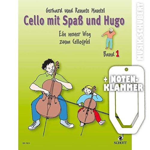 Cello con il divertimento e Hugo Band 1 con pratica pinza semibrevi - un nuovo per un gioco Cello per il singolo e gruppi lezione con i bambini di età 5-10 anni (brossura) di Gerhard e Renate cappotto (semibrevi/sheet music)