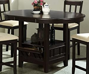 Amazon Com Counter Height Dining Table With Storage Base
