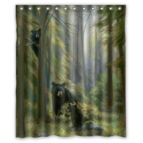 Bear Shower CurtainImpressive Nature Scene