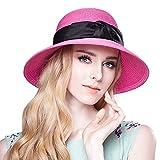 Search : Home Prefer Women's Straw Beach Hat UPF 50+ Sun Caps Wide Brim Bowknot Ribbon