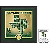 "NCAA Baylor Bears ""State"" Bronze Coin Photo Mint, 18 "" X 14"" X 3"", Bronze"