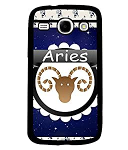 Fuson 2D Printed Sunsign Aries Designer back case cover for SAMSUNG GALAXY CORE I8262 / I8260 - D4430
