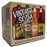 (Gift Box) Vintage Soda Variety Pack (3 Each of 4 American Classic Sodas)