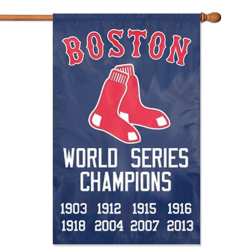 "Boston Red Sox MLB Applique Banner Flag """