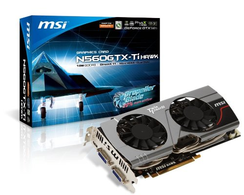 MSI N560GTX-Ti Hawk Video Card (560 Ti Msi compare prices)