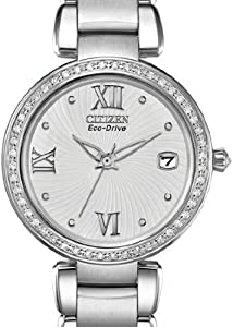 Citizen Women's EO1100-57A Marne Signature Eco-Drive Diamond Bezel Watch