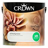 Crown Breatheasy Emulsion Paint - Silk - Wheatgrass - 2.5L