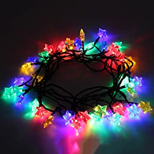 40 Multi Coloured Led Christmas Tree Lights String With