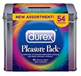 Durex Pleasure Pack Natural Rubber Premium Latex Condoms, 54 Count