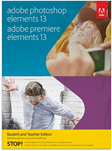 Adobe Photoshop Elements & Premiere Elements 13 – Student and Teacher Edition [Download]