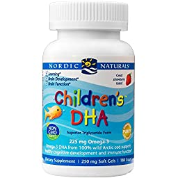 Nordic Naturals - Children\'s DHA, Healthy Cognitive Development and Immune Function, 180 Soft Gels